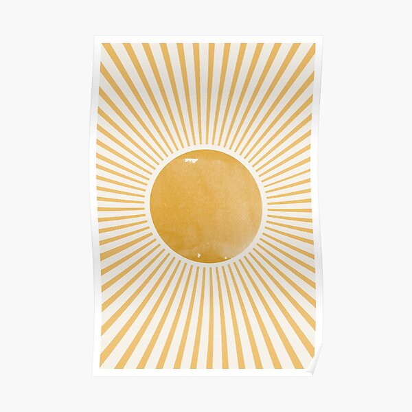 Rétro Sun Mid Century Modern Poster