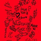 Graffitis red background by G3no