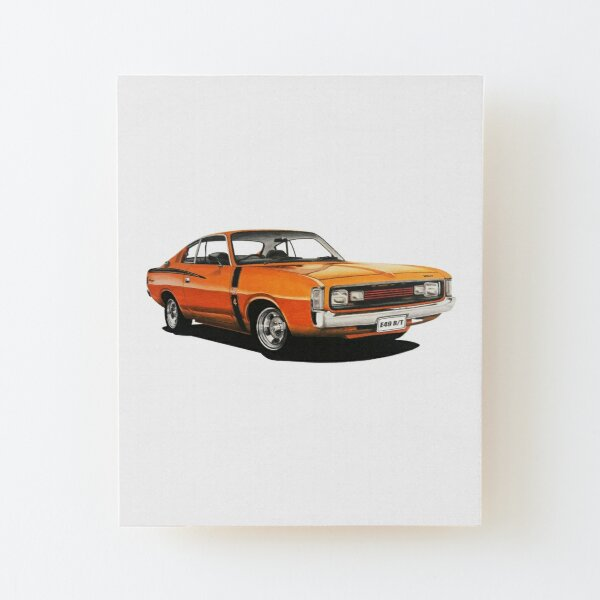 1972 VH Chrysler Valiant Charger R/T E49 Wood Mounted Print
