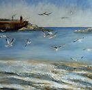 Take Off, Staithes by Sue Nichol