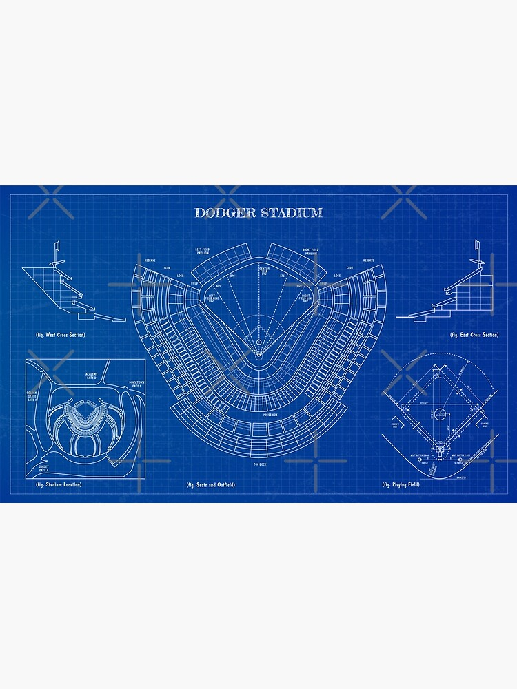 Dodger Stadium (Blueprint) by BGALAXY