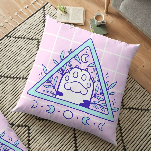 Witchy Cat Paw 03   Nikury Floor Pillow