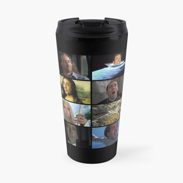 Nicolas Cage Rage Memes Travel Mug