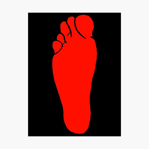 Right Foot Photographic Print