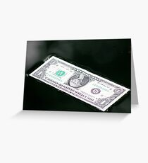Floating Bill in water Greeting Card