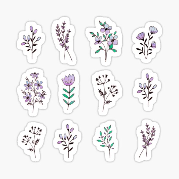 Wildflowers watercolor mini  Sticker