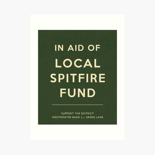 Spitfire fund Green Art Print