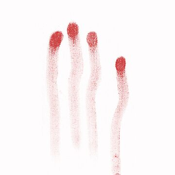 blood prints (white background) by G3no