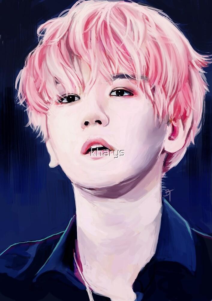 Pink Haired Baekhyun by kharys