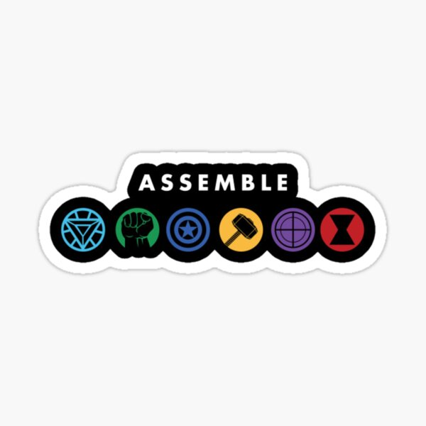 Assemble - The Team Sticker