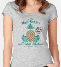 S/S 2015 - Pineapples - Hala Kahiki Juice Stand Women's Fitted Scoop T-Shirt