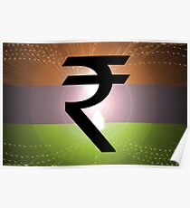 Indian Rupee Background Poster