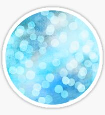 Turquoise Snowstorm - Abstract Watercolor Dots Sticker