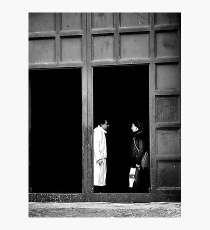 A little conversation Photographic Print