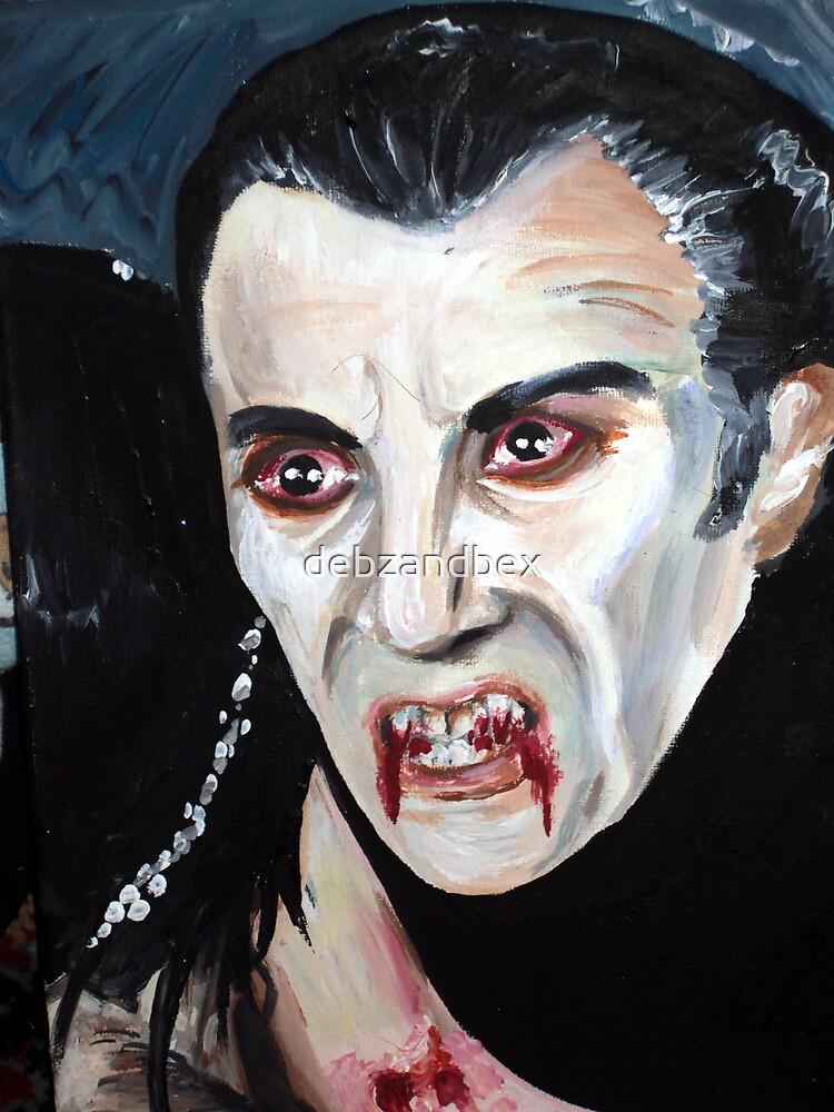 Christopher Lee as Dracula by debzandbex