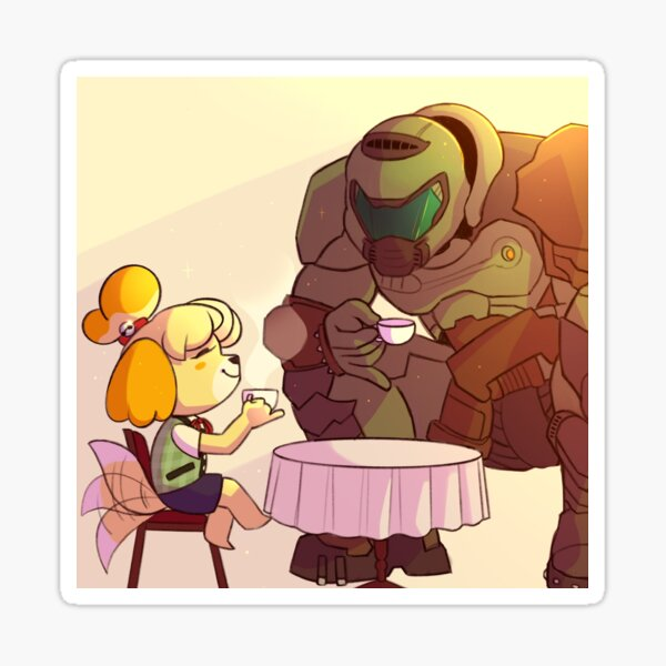 doom guy and isabelle
