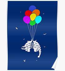 Flying Ankylosaur Poster