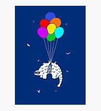 Flying Ankylosaur Photographic Print