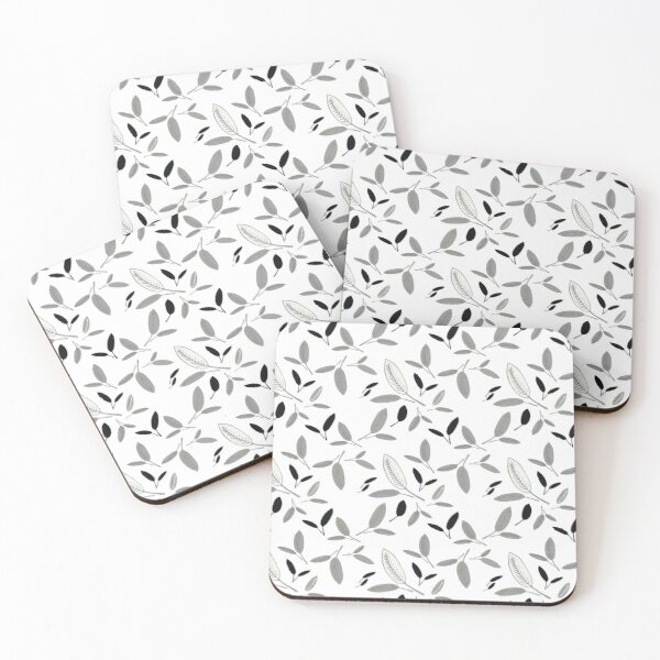 Shades of Leaf Coasters (Set of 4)