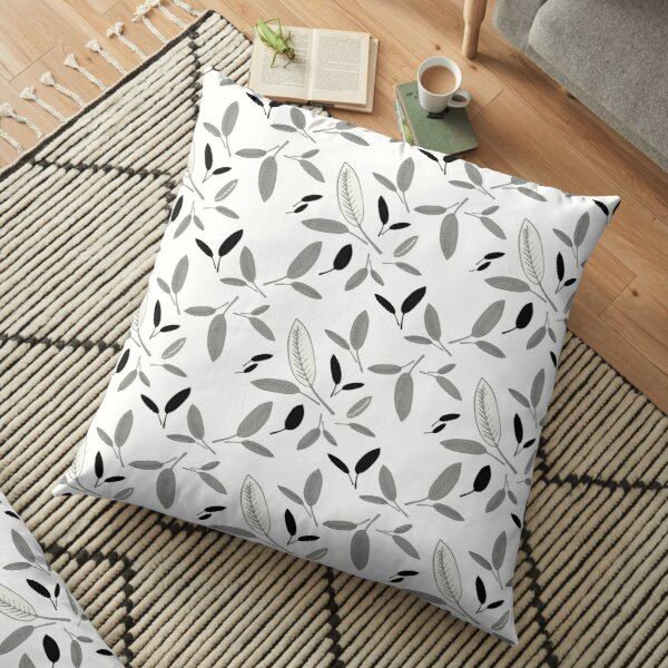 Shades of Leaf Floor Pillow