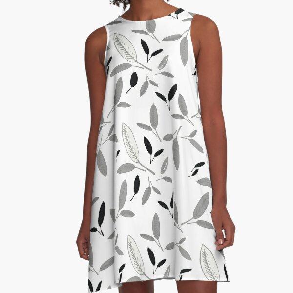 Shades of Leaf A-Line Dress