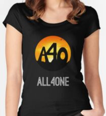 ALL4ONE LOGO Multi-Items  Women's Fitted Scoop T-Shirt