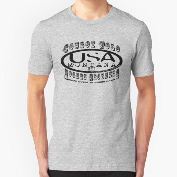 cowboy polo usa by rogers bros Slim Fit T-Shirt