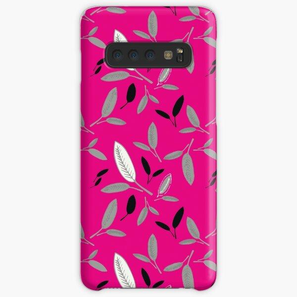 Fushcia Shades of Leaf Samsung Galaxy Snap Case