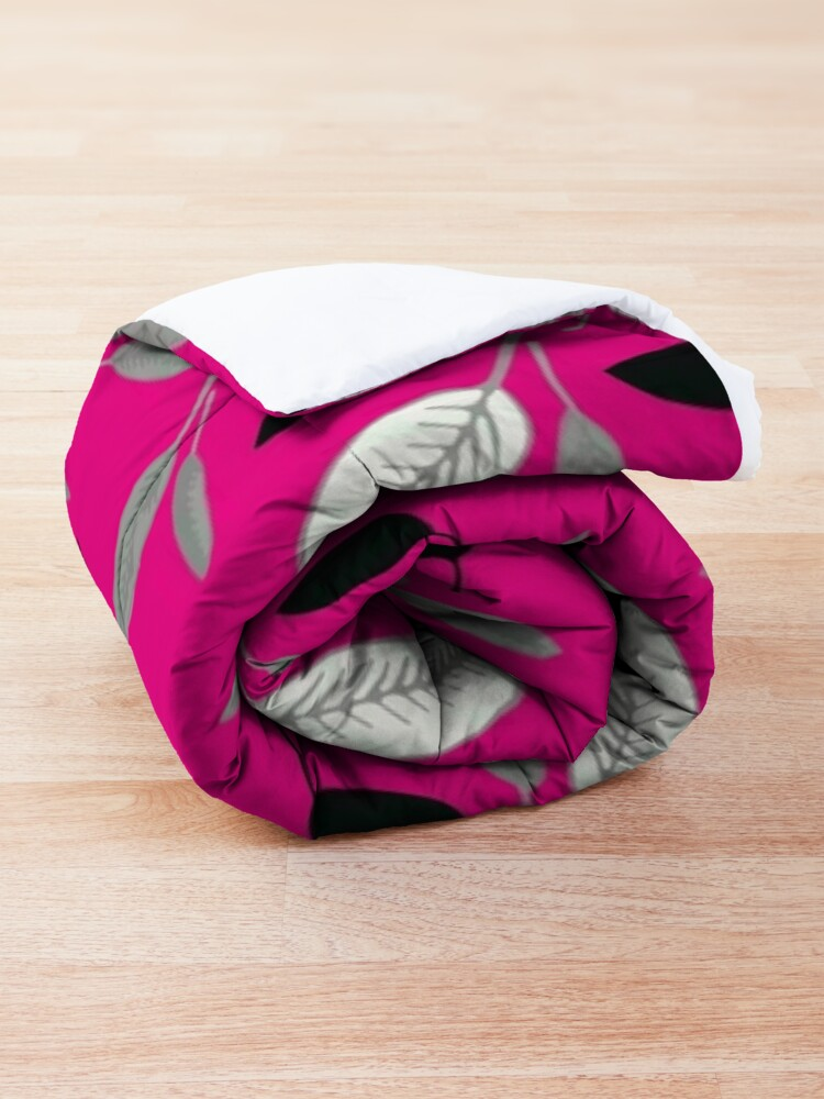 Alternate view of Fushcia Shades of Leaf Comforter