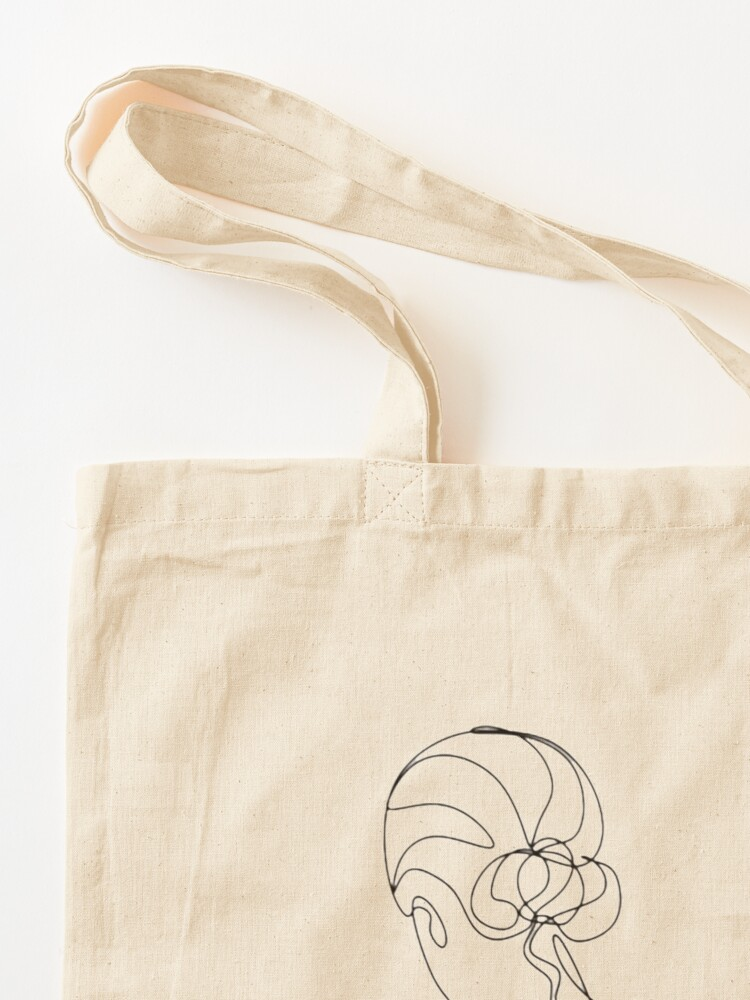 Alternate view of One Line Art Woman Tote Bag