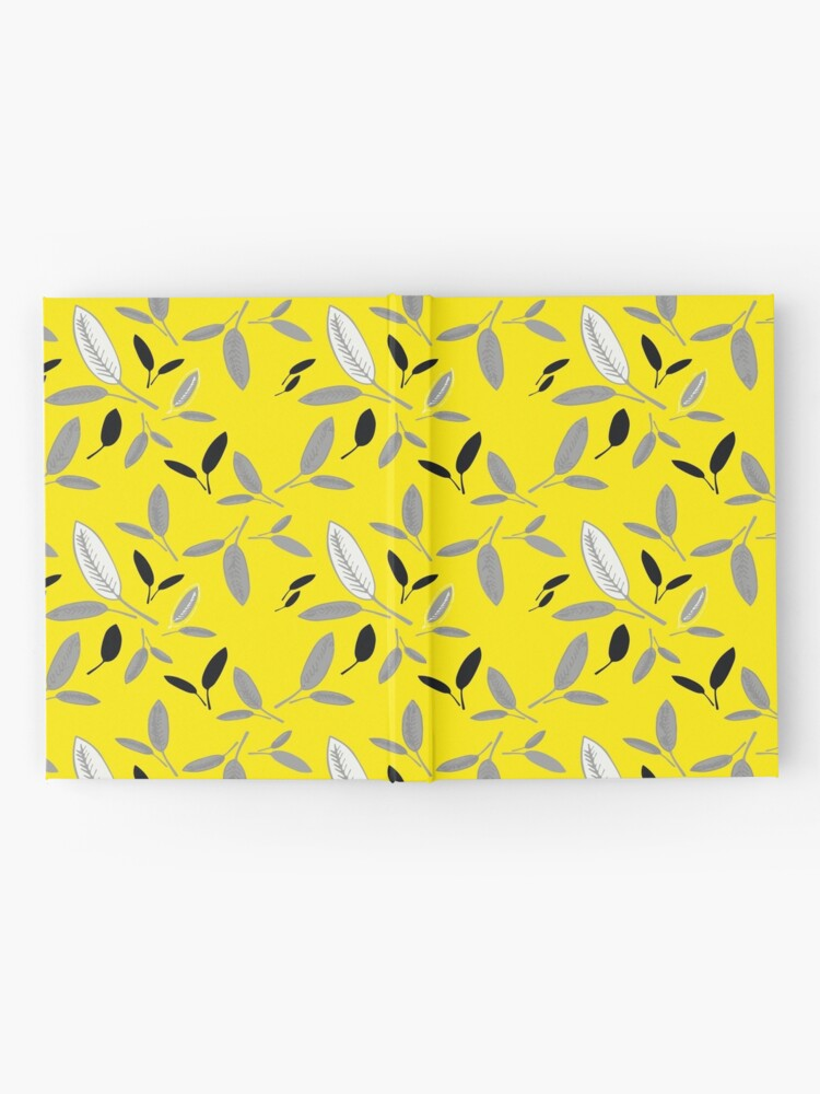 Alternate view of Yellow Shades of Leaf Hardcover Journal