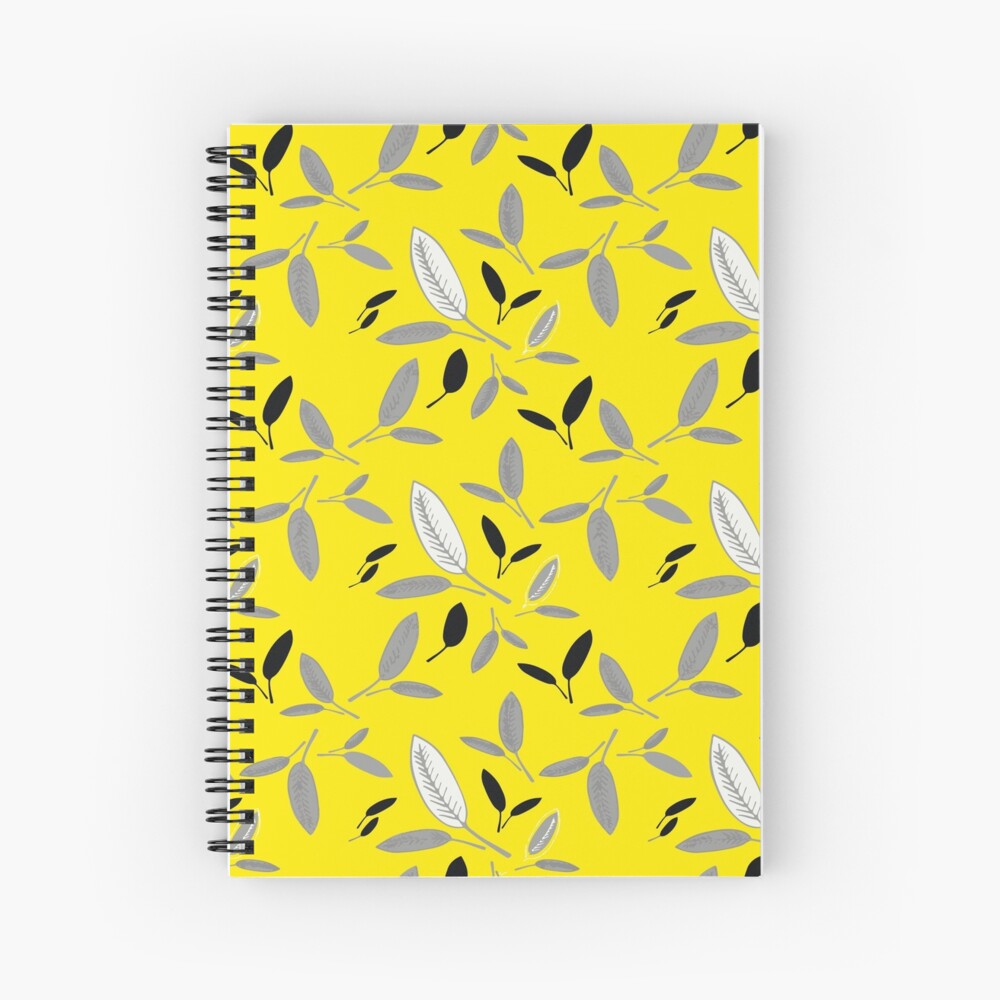 Yellow Shades of Leaf Spiral Notebook