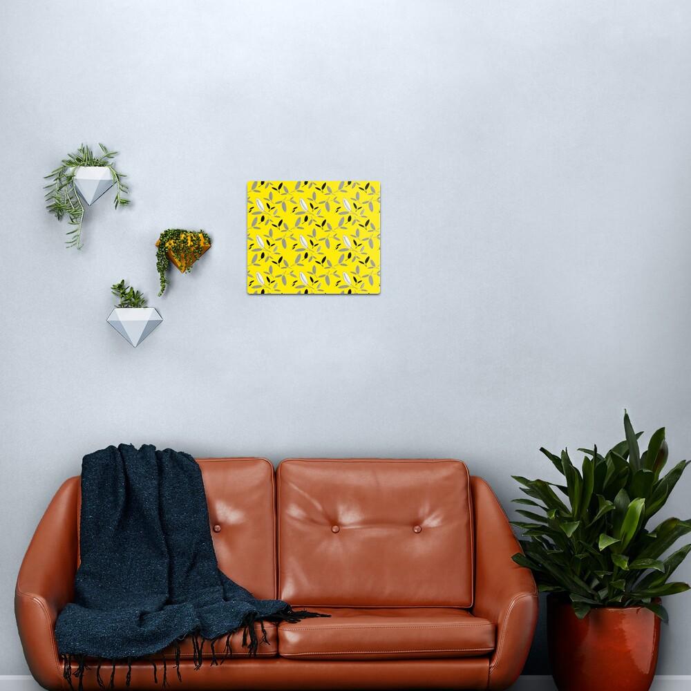 Yellow Shades of Leaf Metal Print