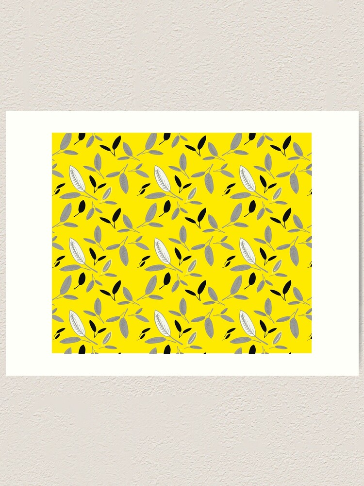 Alternate view of Yellow Shades of Leaf Art Print