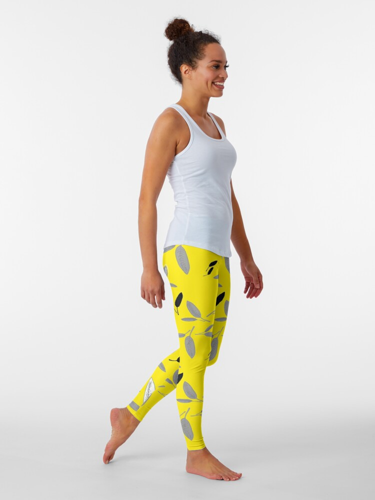 Alternate view of Yellow Shades of Leaf Leggings