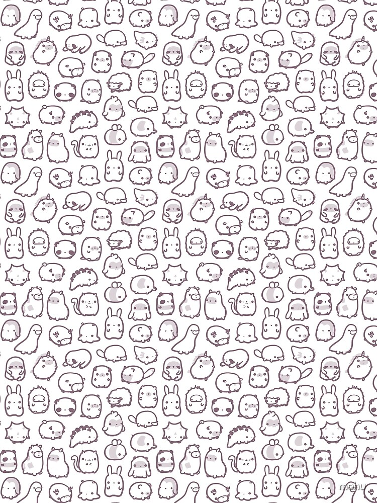 Mini Animals Pattern Purple by mohu