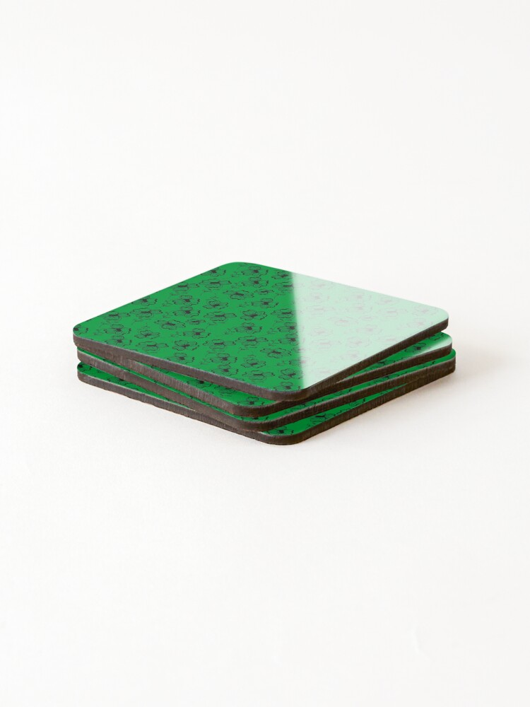 Alternate view of Bright Green Pretty Pansy Coasters (Set of 4)