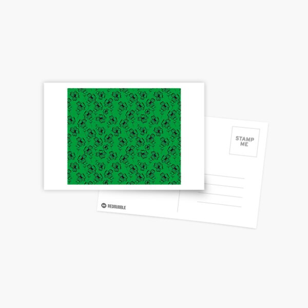 Bright Green Pretty Pansy Postcard