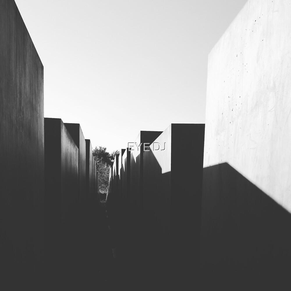 Sun setting over the Holocaust War Memorial, Berlin by EYE DJ