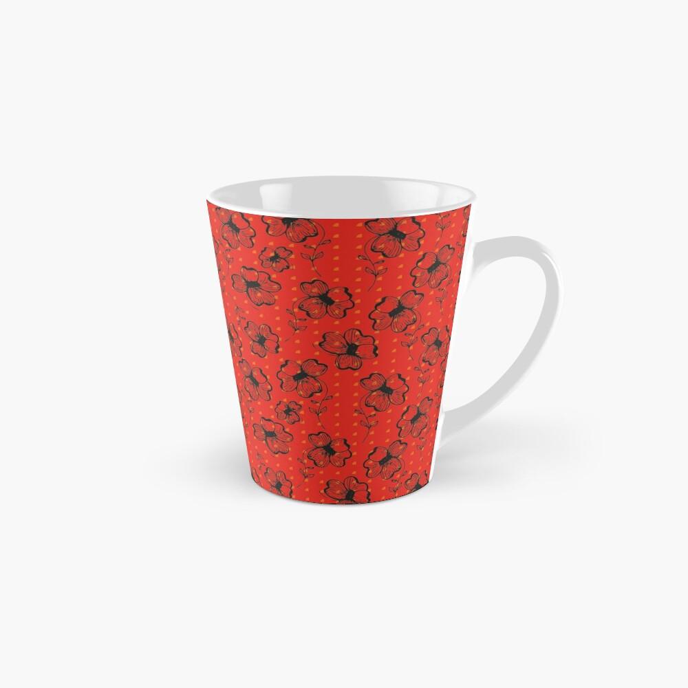 Mandarin Red with Exuberance fleck Pretty Pansy Mug