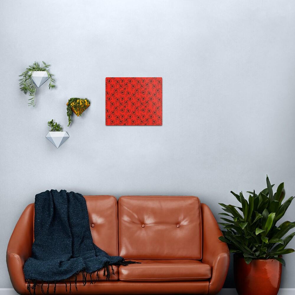 Mandarin Red with Exuberance fleck Pretty Pansy Metal Print
