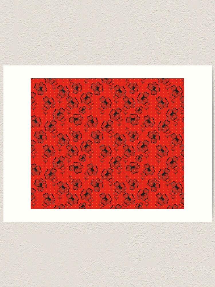 Alternate view of Mandarin Red with Exuberance fleck Pretty Pansy Art Print