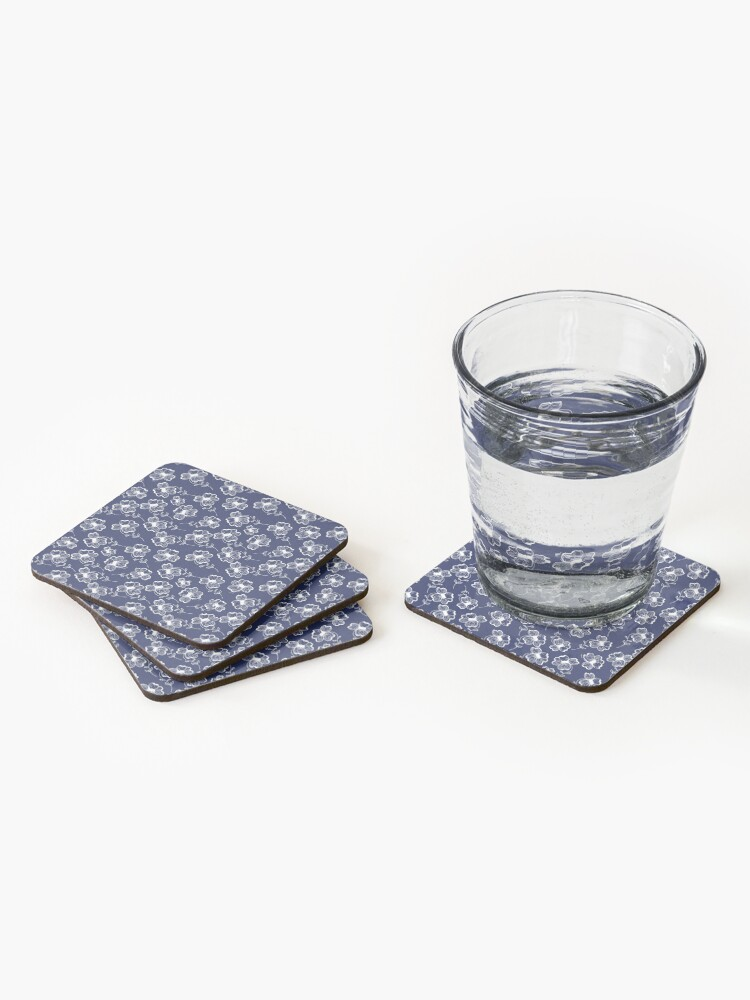 Alternate view of True Blue Pretty Pansy Coasters (Set of 4)