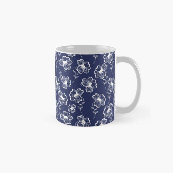 True Blue Pretty Pansy Classic Mug