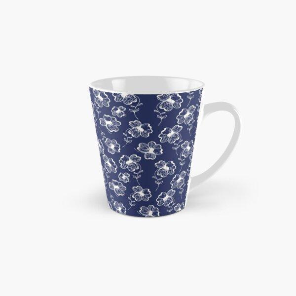 True Blue Pretty Pansy Tall Mug