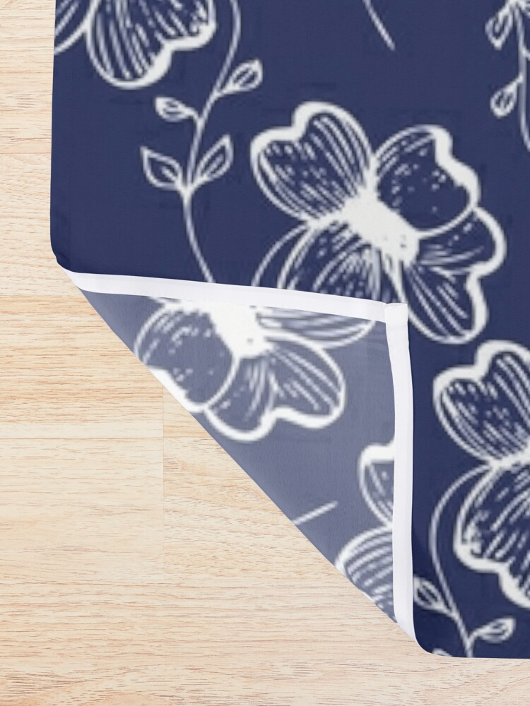 Alternate view of True Blue Pretty Pansy Shower Curtain