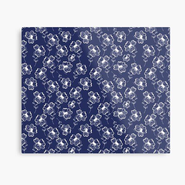 True Blue Pretty Pansy Metal Print