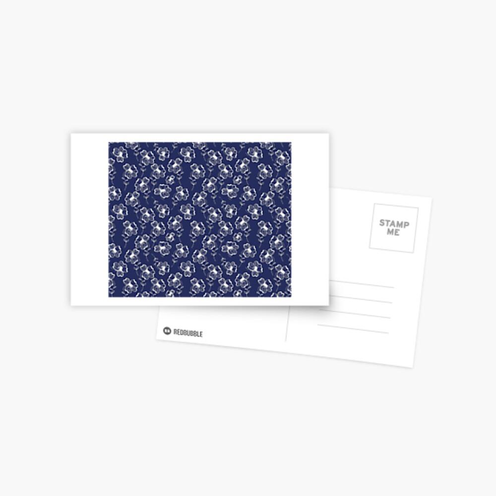 True Blue Pretty Pansy Postcard