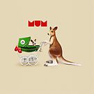 Animal Art - I Love Mum by Michael Murray