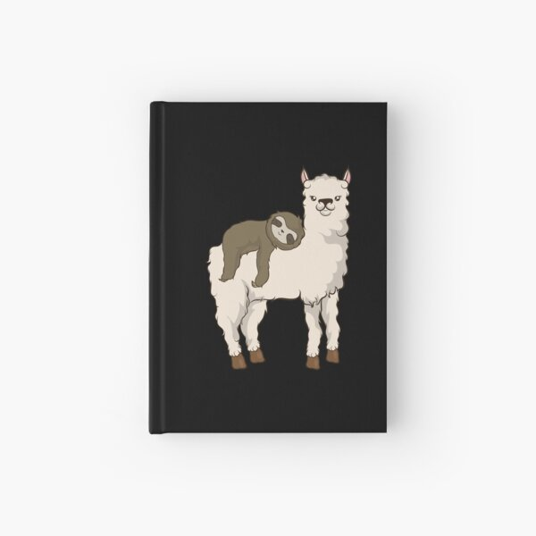 Faultier Reiten Lama Adorable Fluffy Lama & Faultier Notizbuch